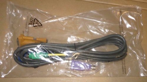 New Aten KVM Cable Keyboard and Mouse VGA PS/2 2L-5202P 6ft(1.8m) Z7A6131